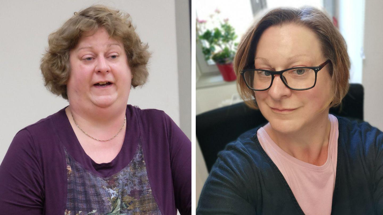 Das Bild links stammt aus dem Jahr 2016, damals quälten Anette Schäfer Übergewicht und Bluthochdruck. Das rechte Bild ist aktuelleren Datums.