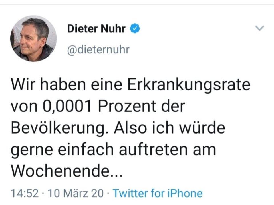 Ein Tweet von Dieter Nuhr aus dem März 2020