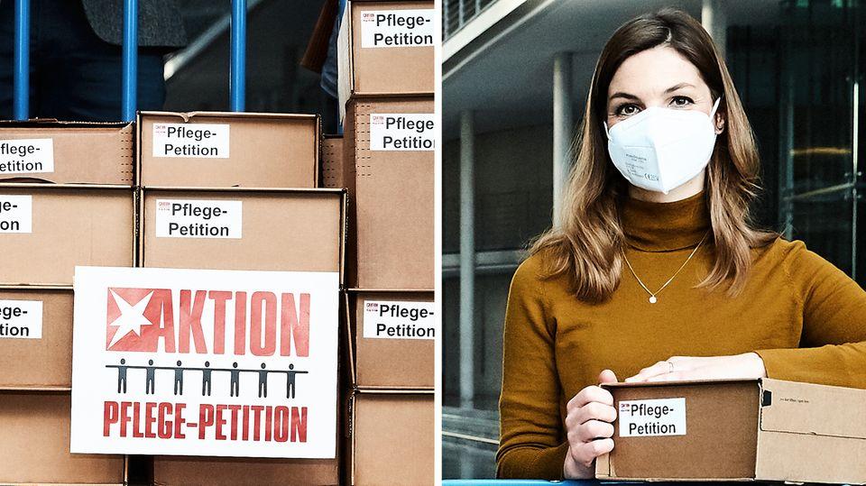 """Für eine """"Pflege in Würde"""": stern bringt 250.000 Unterschriften zum Deutschen Bundestag"""