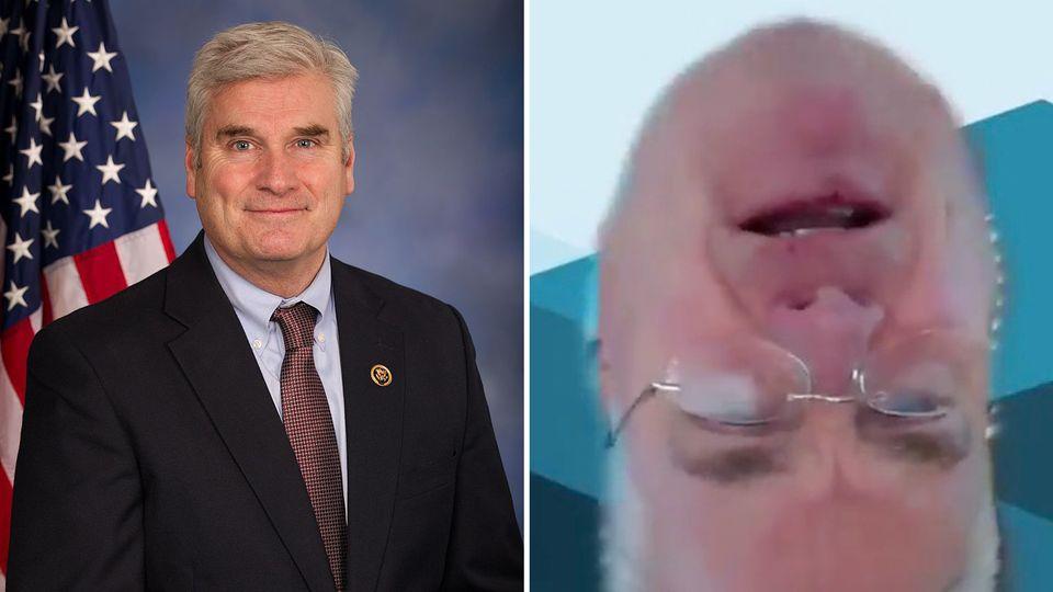 Patzer bei Live-Stream im US-Kongress: Republikaner steht plötzlich Kopf