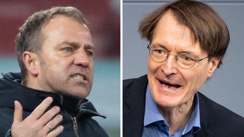 Öffentlicher Schlagabtausch: Bayern-Trainer Flick und SPD-Mann Lauterbach liefern sich hitzige Corona-Debatte