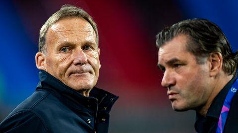 Dortmunds Geschäftsführer Hans-Joachim Watzke (l.) und Sportdirektor Michael Zorc