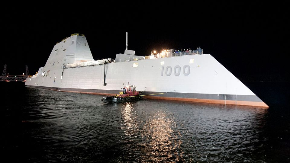 Die USS Zumwalt hat bisher etwa 4,4 Milliarden US-Dollar verschlungen