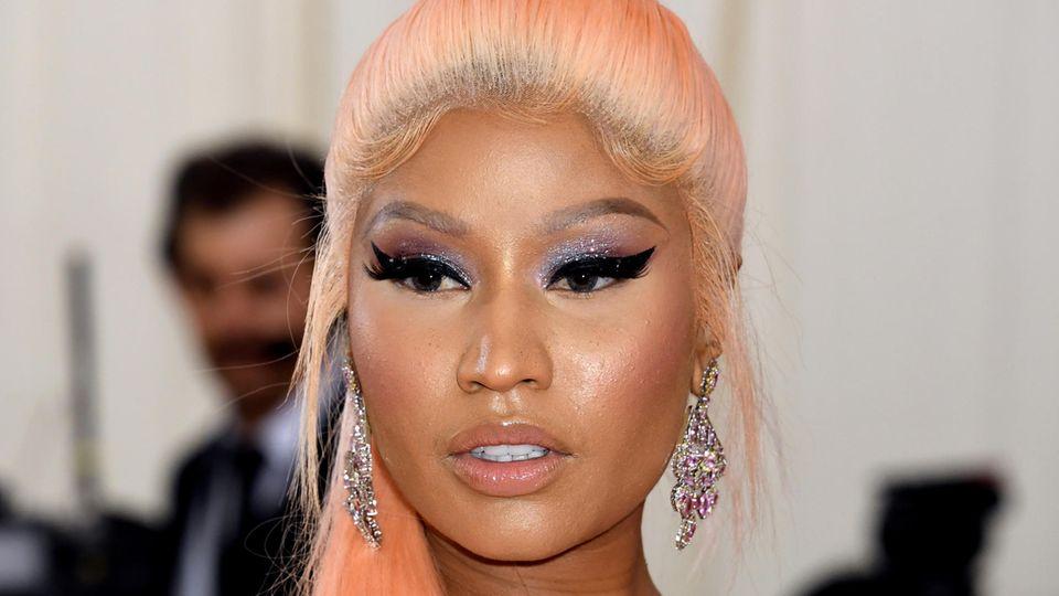 Rapperin Nicki Minaj kommt zur Met-Gala ins Metropolitan Museum of Art
