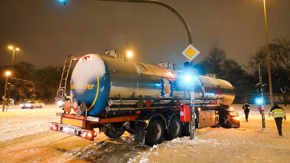 Schnee und Glätte in Hamburg