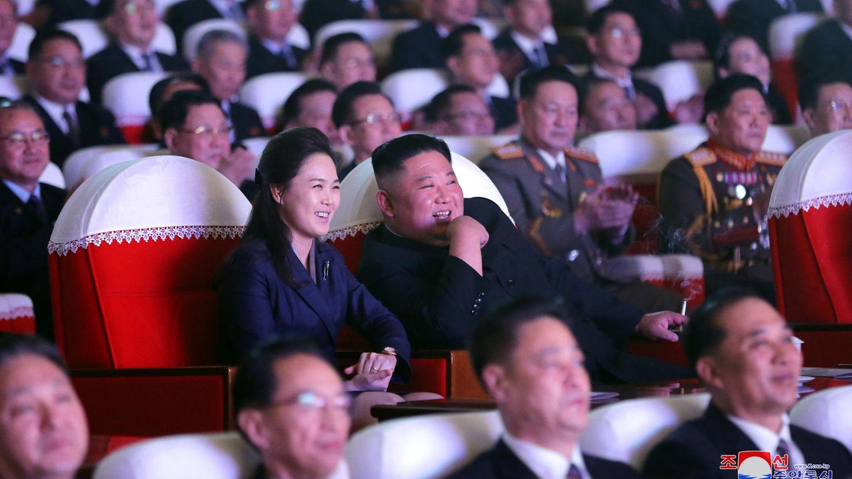 Ri Sol-ju und Kim Jong-un