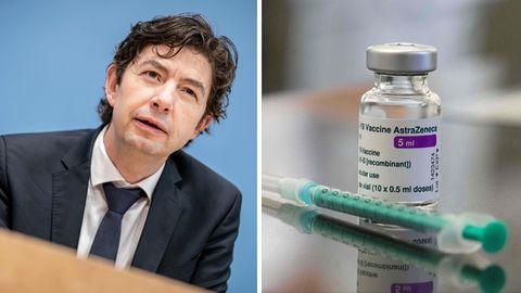 Der Virologe Christian Drosten (l.)hält grundsätzliche Bedenken gegen den Astrazeneca-Impfstoff für unbegründet