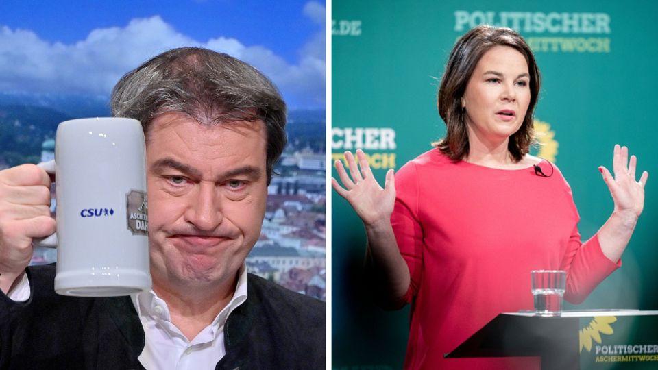 Markus Söder (l.) und Annalena Baerbock (r.)