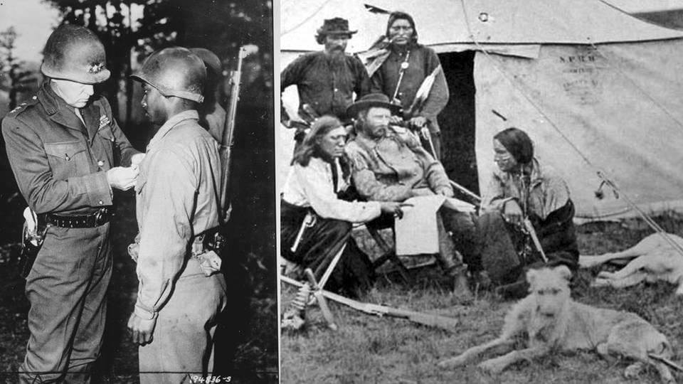 General Patton mit seinem Colt und Custer Soldaten nutzten den Colt Single Action