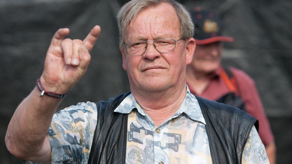 Bauer Uwe Trede, der jahrelang sein Gelände für das Wacken Open Air Festival vermiete, im August 2009.