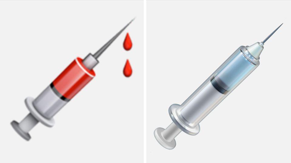 Mit dem neuen Update wird die Spritze bei Apple ihre Bluttropfen verlieren