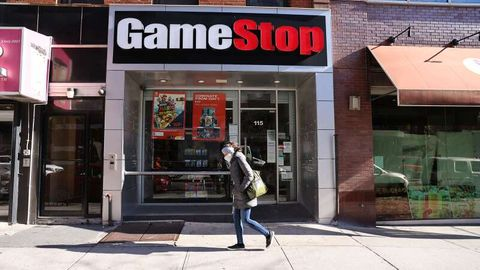 GameStop Filiale in manhattan, New York City.