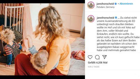 Vip News: Janni Hönscheid postet emotionalen Beitrag übers Muttersein