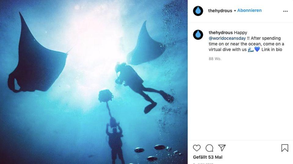 Auf Instagram teilt die Organisation Bilder vom Videodreh der virtuellen Tauchgänge