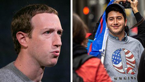 Facebook-Chef Mark Zuckerberg ließ Verschwörungs-Theoretikern viel Raum