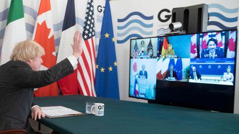 """Boris rüffelt Angela in G7-Videokonferenz: """"Du musst dein Micro stummschalten!"""""""