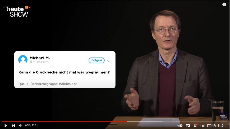 """Karl Lauterbach in der """"heute-show"""""""