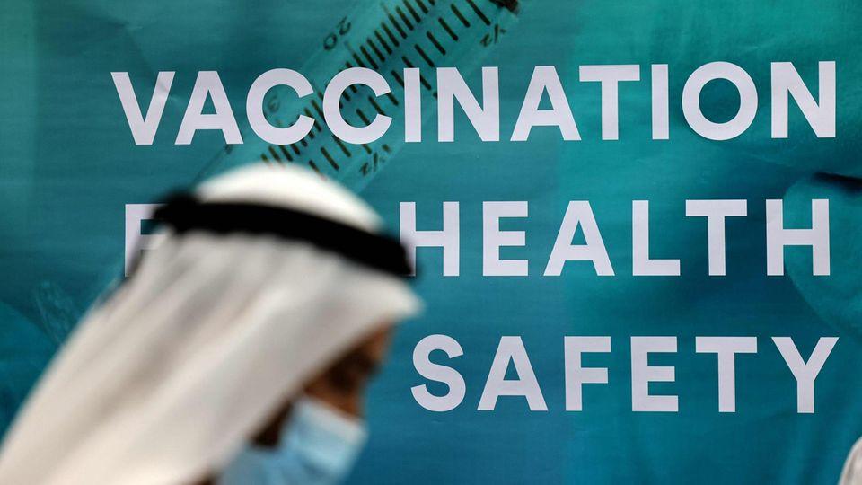 Registrierung in einem Impfzentrum imDubai International Financial Center