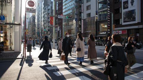 Straßenszene in Tokio