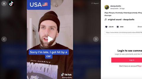 Videos auf Tiktok: US-Comedian zeigt, wie unterschiedlich das Leben in Europa und in den USA ist