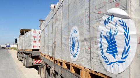Ein Konvoi des Welternährungsprogramms (WFP)