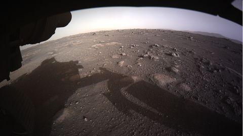 Mars-Landschaft in Farbe