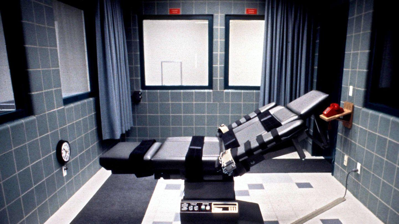 Blick auf den Todesstuhl in einem Exekutionsraum in den USA