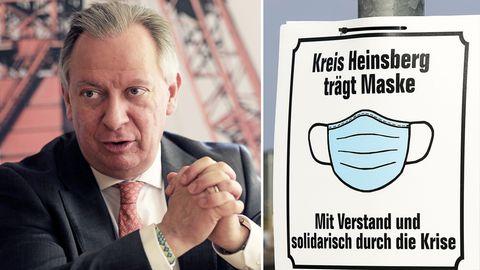 """Deutschlands erstes Superspreader-Event: Landrat von Heinsberg erinnert an """"schwere Stunde""""."""