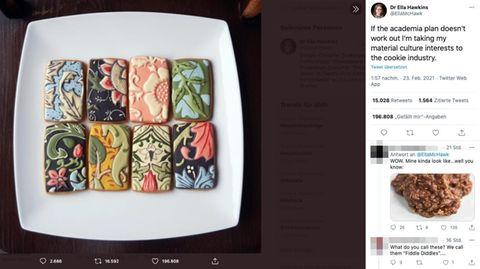 Tweet: Fein bemalte Kekse