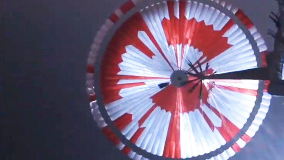 Mars-Landung: Nasa versteckt geheime Botschaft im Fallschirm – und das hat Tradition