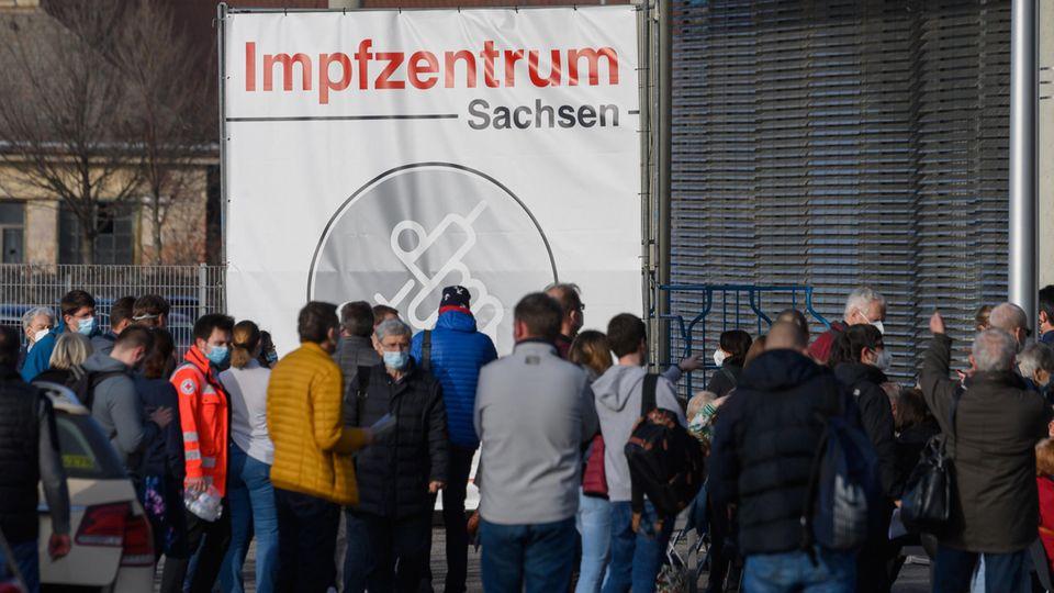 Impfzentrum in Dresden