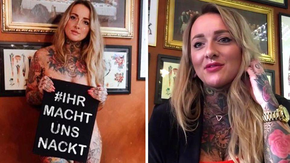 Tätowiererin Claudia Lehnigk über den Corona-Protest #IhrMachtUnsNackt