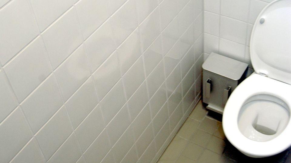 Blick in eine Toilettenkabine