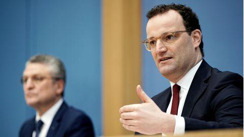 Bundesgesundheitsminister Jens Spahn und RKI-Präsident Lothar Wieler