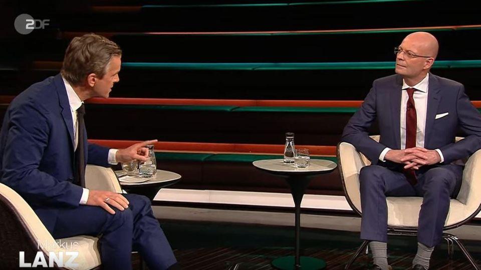 Markus Lanz befragt Halles Oberbürgermeister Bernd Wiegand, warum dieser schon gegen Corona geimpft wurde
