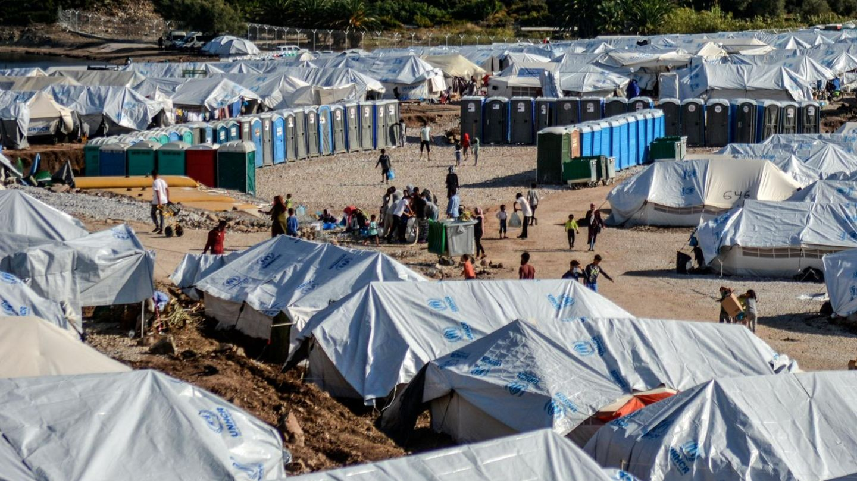 Das Flüchtlingslager Kara Tepe auf der griechischen Insel Lesbos (Archivbild)