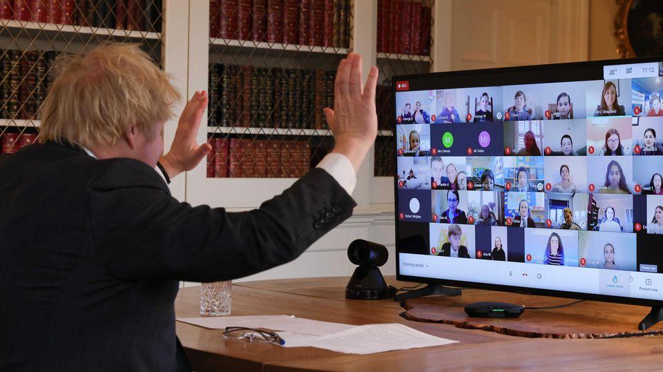 Ob der britische Premier-Minister Boris Johnson ein großer Fan von Videokonferenzen ist?