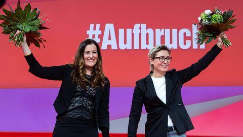 Janine Wissler (l) und Susanne Hennig-Wellsow