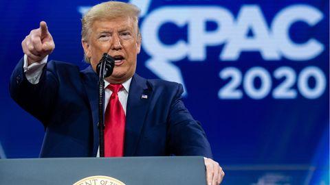 Ex-US-Präsident Donald Trump spricht bei der CPAC 2020 (Archivfoto)