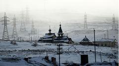 Bild 1 von 12der Fotostrecke zum Klicken: Die russisch-orthodoxe Kirche in der IndustriesiedlungNikel im Nordwesten Russlands