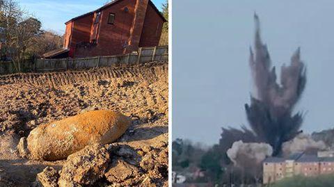 News des Wochenendes: Amerikanische Weltkriegsbombe im Main gesprengt