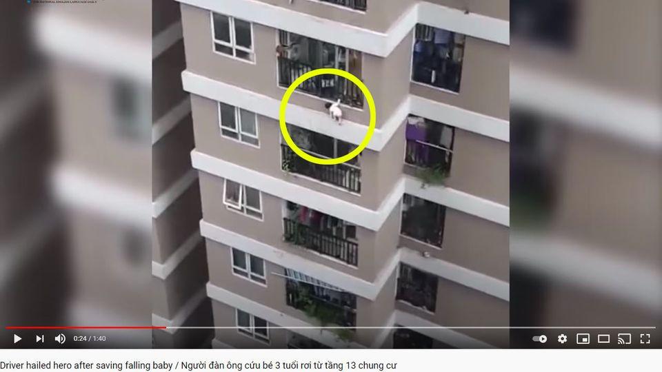 Das Kind stürzte aus dem zwölften Stock eines Hochhauses in Hanoi