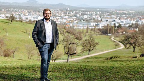 Seit Alexander Maier den CDU-Amtsinhaber überraschend schlug, ist er der erste grüne Oberbürgermeister der Industriestadt Göppingen