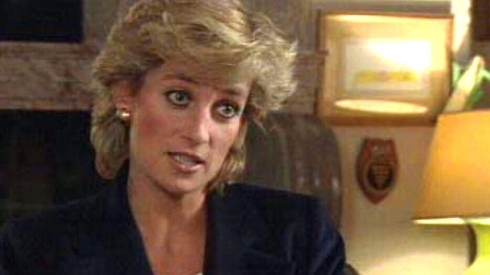 Prinzessin Diana bei ihrem legendären TV-Interview 1995