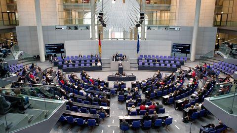 Plenarsaal des Deutschen Bundestags