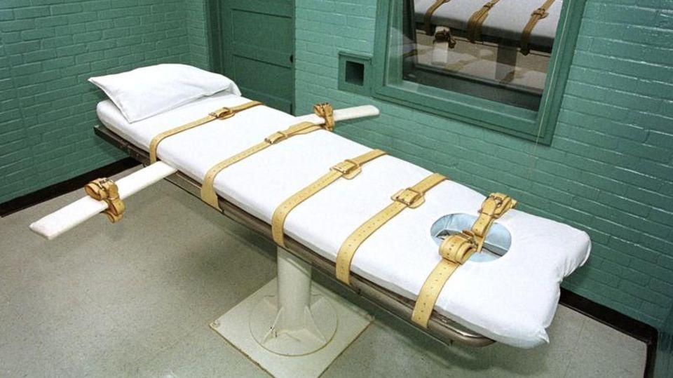Die Todeszelle des berüchtigten Huntsville-Gefängnisses in Texas