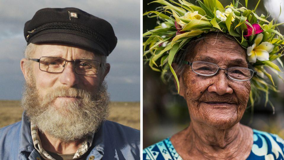 Zwei Bewohner der entgegengesetzt liegenden Inseln