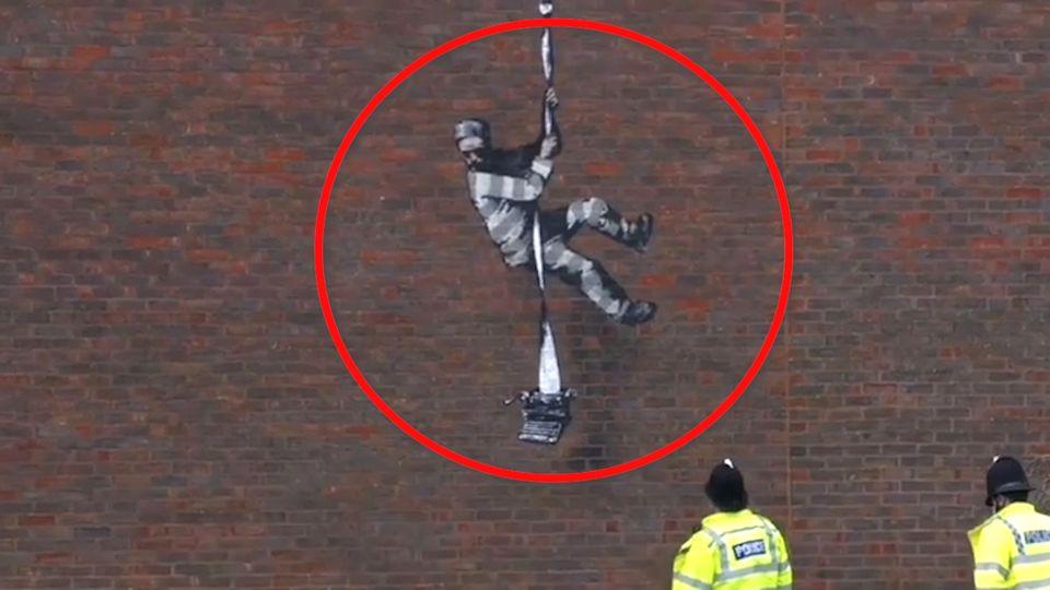 Seltener Auftritt im Video: Banksy bekennt sich zu Gefängnis-Graffiti
