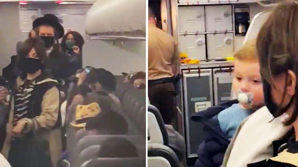 Masken nicht getragen oder Antisemitismus? Airline schmeißt orthodoxe Juden aus Flugzeug