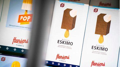 """Eis mit dem Namen """"Eskimo"""" der dänischen Firma Hansens Is"""